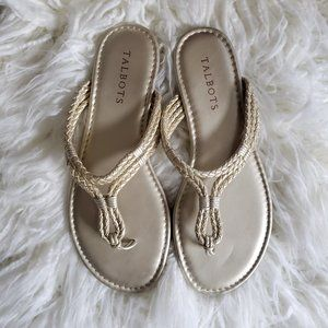 Talbots Gold Rope Sandals Size 7M